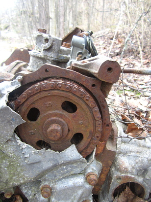 Old Cracked Engine