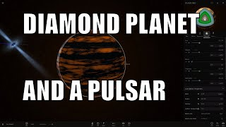 DIAMOND PLANET, PULSAR AND ITS MYSTERY - Universe Sandbox 2
